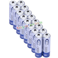 16 pcs AA 2A 3000mAh Ni-MH 1.2V Rechargeable Battery BTY Blue LR6 Cell UM3