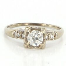 Right Hand Ring Estate Bridal Jewelry Antique Deco 14k Gold Diamond Engagement