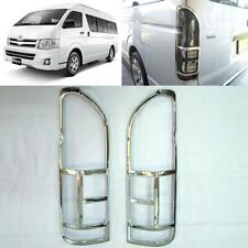 For 06-17 Toyota Hiace Commuter Van Pair Chrome Tail Light Rear Lamp Cover Trim