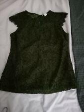 Khaki H&m Lace Top, Size Small