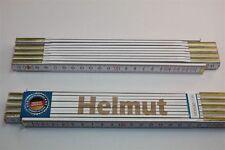 Zollstock mit Namen     HELMUT   Lasergravur 2 Meter Handwerkerqualität