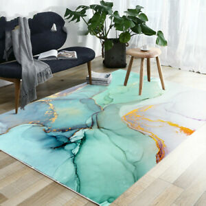 2020 Traditional Ink Art Carpet Abstract Green Marble Pattern Rugs Carpets