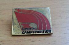 SED Parteitagsabzeichen - X.Parteitag Kampfposition - Abzeichen von 1981