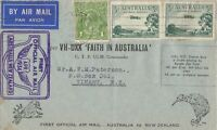 AFC116) First official airmail cover Australia – New Zealand 10 April 1934