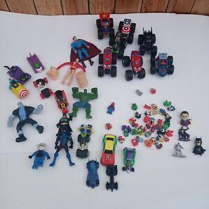 Lot of DC and Marvel Hotwheels Mcdonalds hulk robin spider man joker super man