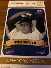 NEW YORK METS Atlanta Braves Opening Day Ticket 2012 Tom Seaver Photo CitiFeild