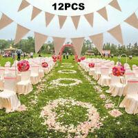 3m Hesse drapeaux Bannière De Mariage Toile De Jute Shabby Chic Jardin Exterieur