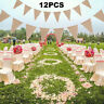 3m Hessian Bunting Flag Banner Burlap Rustic Shabby Chic Wedding Garden Outdoor