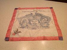 World War I Antique Handkerchief  Military Sweetheart Remember Camp Hancock GA