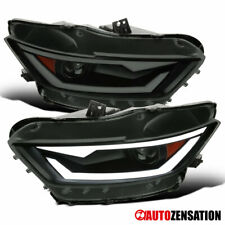 For 2015 20 Ford Mustang Hid Xenon Black Smoke Projector Headlightsdynamic Led Fits Mustang