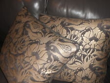 Fortuny Throw pillows MELAGRANA black & silvery gold Turkish Design new PAIR