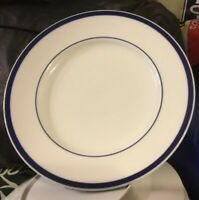 """Williams Sonoma Brasserie Blue Dinner Plates 11"""" Japan Set Of 5"""