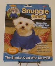 Snuggie For Dogs Extra Small Blue Blanket Coat Soft Fleece Adjustable