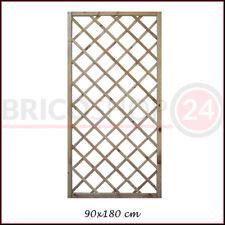 Grigliato Pannello 90x180 h Steccato in Legno da Terrazzo Giardino Frangivento