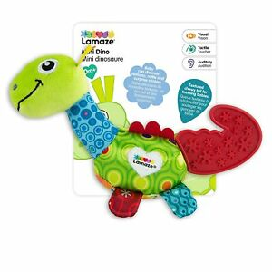 Lamaze MINI DINO Baby Teether ages 0+ Chewy Tail Squeaky Head Crinkle Sounds