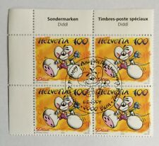 4 timbres suisses Diddl YT CH1803, Zum CH1126 se tenant FDC
