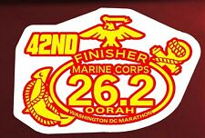 Magnet 42nd Marine Corps Marathon D.C.Finisher Red Yellow color Decal Car