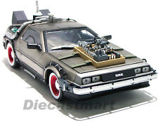 1:18 BACK TO THE FUTURE DELOREAN TIME MACHINE PART 3 DIECAST CAR BY SUNSTAR 2712