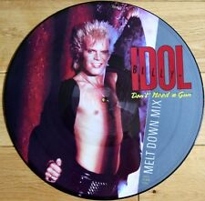"""MINT! BILLY IDOL DON'T NEED A GUN 12"""" VINYL PICTURE PIC DISC"""