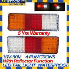 Pair 12v 24v LED Tail Light UTE Trailer Caravan Indicator Reverse Stop Functions