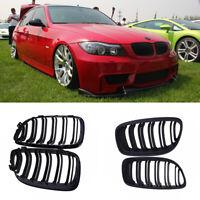 Pour BMW 2009-2011 4D E90 E91 Grilles de pare-chocs de haricot à rein noir mat