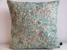 Liberty Mawston Meadow Ditsy Floral  Dew & Green Velvet Fabric Cushion Cover