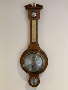 Comitti of London Mahogany Banjo Shaped Wall Hanging Barometer