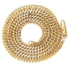 """Contrastados 18 Ct Oro Amarillo 18k Bordillo Enlace Cadena Collar 24"""""""