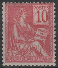 "FRANCE STAMP TIMBRE N° 112 "" MOUCHON 10c ROSE TYPE I 1900 "" NEUF xx LUXE  M553"