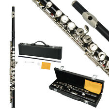 New School Student Band Black 16 Hole C Flute for Beginner with Case