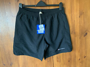 RRP £50 - URBAN OUTFITTTERS CHAMPION SWIMMING BOARD SWIM SHORTS Black XL - NEW