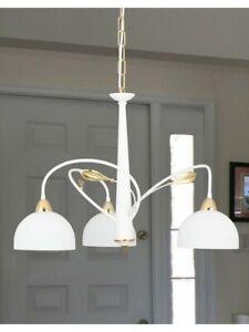 Modern Chandelier Design White And Gold 3 Lights Dese-226