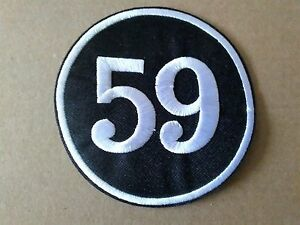 59 ROCKER AND TON UP BIKER SEW OR IRON ON  PATCH