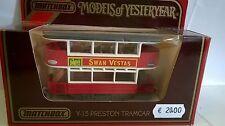 MATCHBOX 1:87 AUTO DIE CAST TRAMWAY PRESTON ROSSO SWAN VESTAS ART Y-15