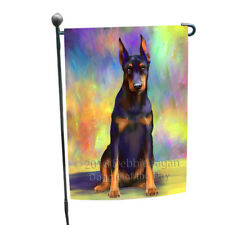 Pardise Wave Doberman Pinscher Dog Garden Flag Gflg53661