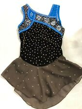 Gk Elite Sportwear Custom Crystallization Ice Figure Skating Dress Girls Large