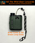 N2 The Wild Gear Lanyards Army Camo & Olive Coiled Paracord Lanyard Tether