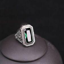 Ring Women Men Gemstone Ring Engagement Ring Wedding Jewelry Emerald Ring