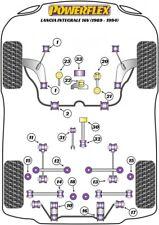 Kit completo 34 Gommini powerflex Lancia Delta Evoluzione integrale 16v supporti