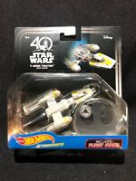 Disney Hot Wheels Starships Y-WING FIGHTER GOLD LEADER Star Wars NIP 40th Anniv