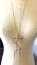 Alexis Bittar Sliver Gold Long Necklace