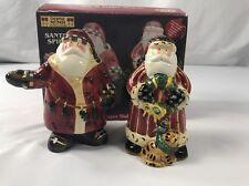 Debbie Mumm Santa's Spirit Salt & Pepper Shakers Unused Hand Painted Sakura