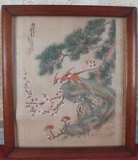 peinture sur tissu Asie soie ? signé