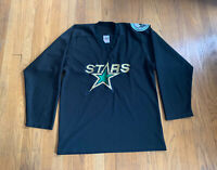 Minnesota North Stars Vintage 90's Nor-Tex Jersey Black Size L EUC RARE NHL