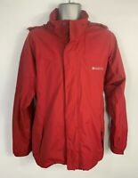 MEN MOUNTAIN WAREHOUSE RED LIGHT WEIGHT CASUAL WATERPROOF HOODED RAINCOAT SIZE M