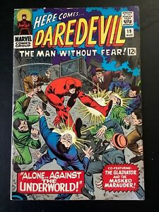 DAREDEVIL #19 SILVER AGE COMIC BOOK LOT STAN LEE JOHN ROMITA MURDOCK GLADIATOR