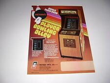 1978 Midway 4 Player Bowling Alley Arcade game Original sales flyer brochure