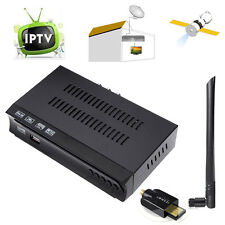 DVB-S2 S Satellite + IPTV Combo TV BOX Capture Receiver + 5dBi USB WIFI Dongle