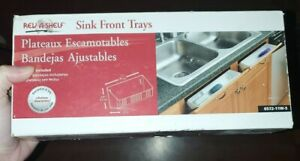 Rev-A-Shelf 11 Inch Tip-Out Front Sink Tray Set, 6572-11W-5 NEW