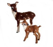 Ciervo Bambi De Piel Natural Animal Pieles Figura Niños Salvaje